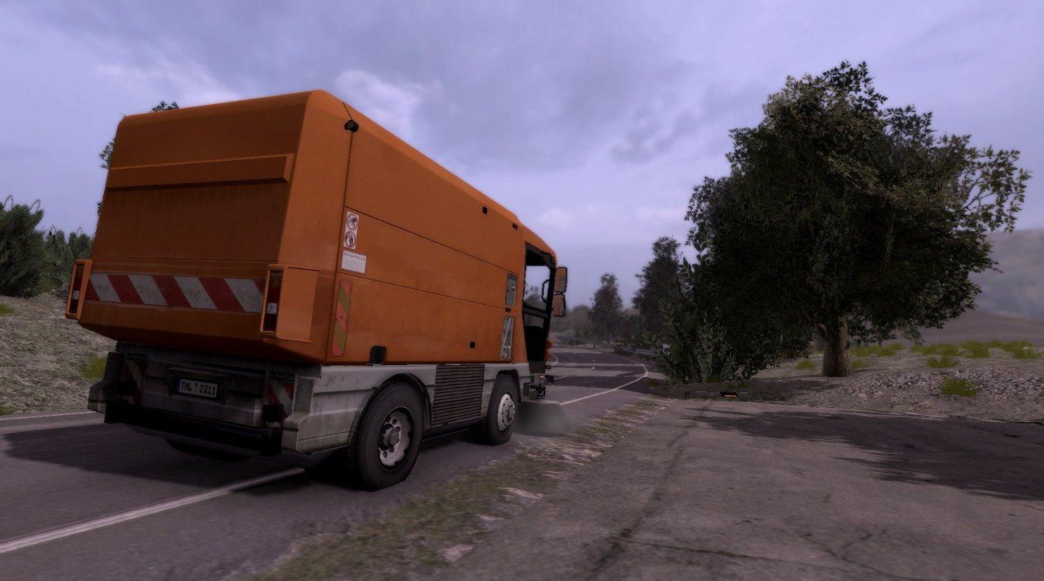 street cleaning simulator trailer