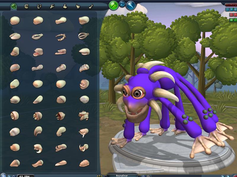 Message, spore creature creator final