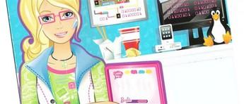 Data-Barbie kan ikke lage spill uten hjelp fra gutta